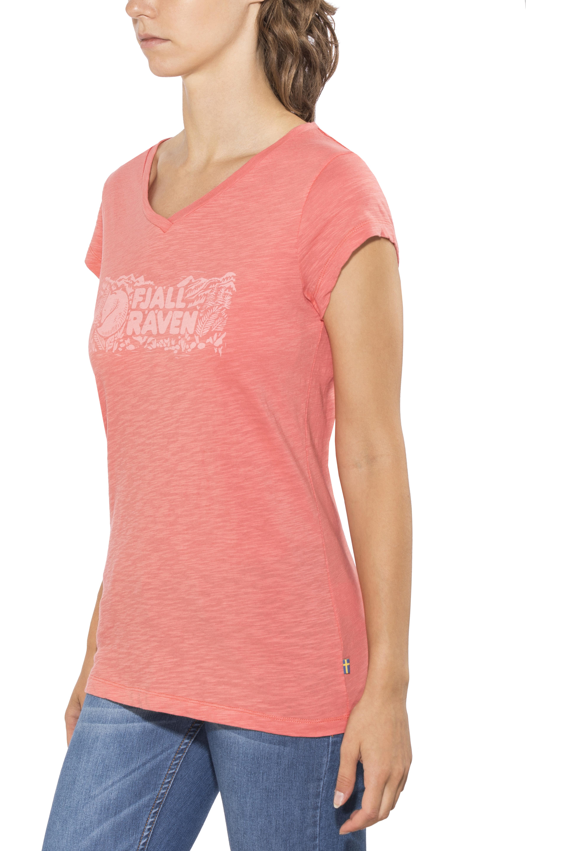 betrouwbare kwaliteit vrijetijdsschoenen nieuw concept Fjällräven Logo Stamp T-Shirt Women peach pink